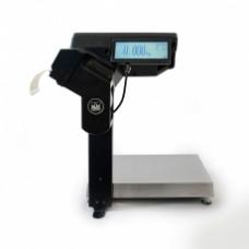 Поверка торговых весов с печатью этикетки МАССА-К MK-15.2-R2P10