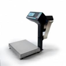 Поверка торговых весов с печатью этикетки МАССА-К MK-15.2-R2P10-1