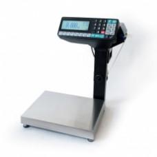Поверка торговых весов с печатью этикетки МАССА-К MK-15.2-RP10-1