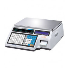 Поверка торговых весов с печатью этикетки CAS CL5000-30B