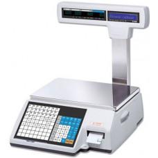 Поверка торговых весов с печатью этикетки CAS CL5000-15P
