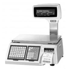 Поверка торговых весов с печатью этикетки CAS LP-II-06